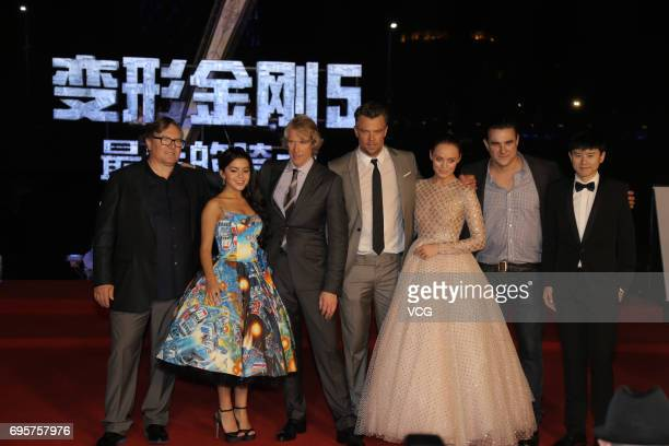 American actress and singer Isabela Moner American director Michael Bay American actor Josh Duhamel English actress Laura Haddock and Chinese singer...