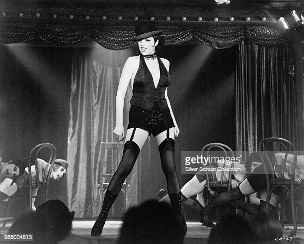 American actress and singer Liza Minnelli as Sally Bowles in the film 'Cabaret' 1972