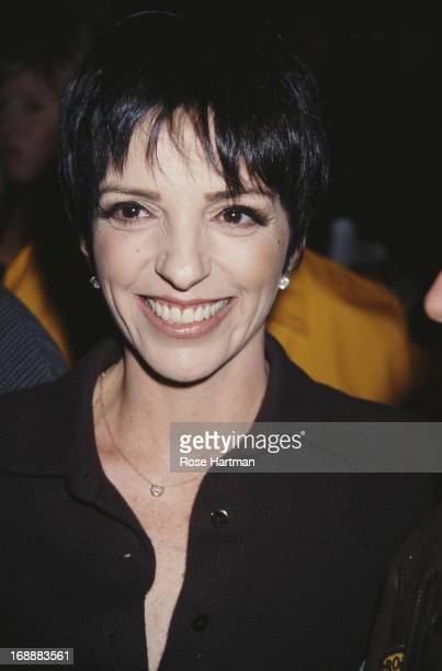American actress and singer Liza Minnelli attends the DKNY Spring 1996 Fashion Show 1995