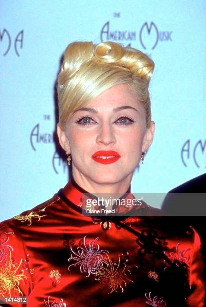 American actress and singer Madonna at the American Music Awards 1999