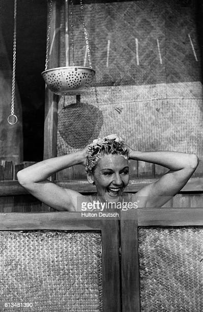 American actress and singer Mary Martin appearing in the musical 'South Pacific Miss Martin plays the role of ensign Nellie Forbush in the musical