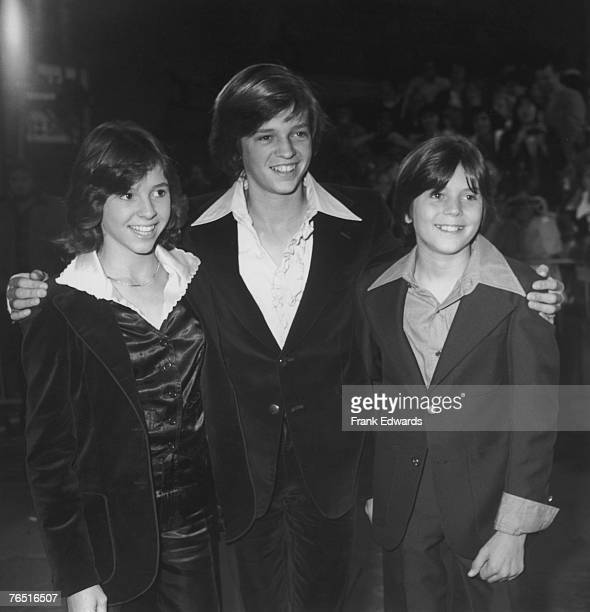 American actress and television star Kristy McNichol attends the Hollywood premiere of 'Saturday Night Fever' with her brothers Jimmy and Tommy...