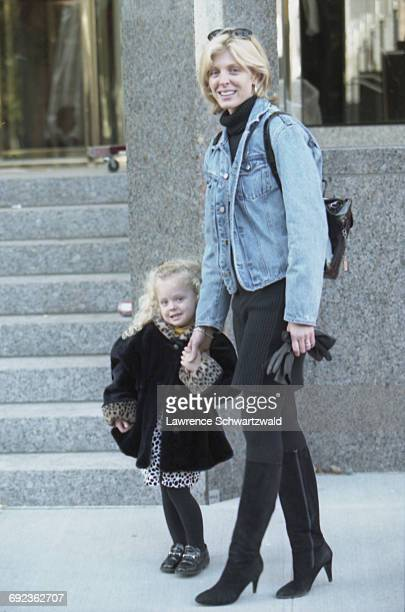 American actress and TV presenter Marla Maples with her daughter Tiffany New York USA 11th April 1996 Maples is the wife of American businessman...