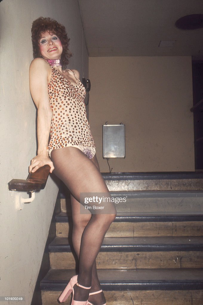 American actress Anita Morris (1943 - 1994) poses on a staircase in costume for her role in the Broadway stage production of 'The Magic Show,' New York, New York, mid to late 1970s. The show ran for more than 1900 performances between 1974 and 1978 and received several Tony Award nominations.