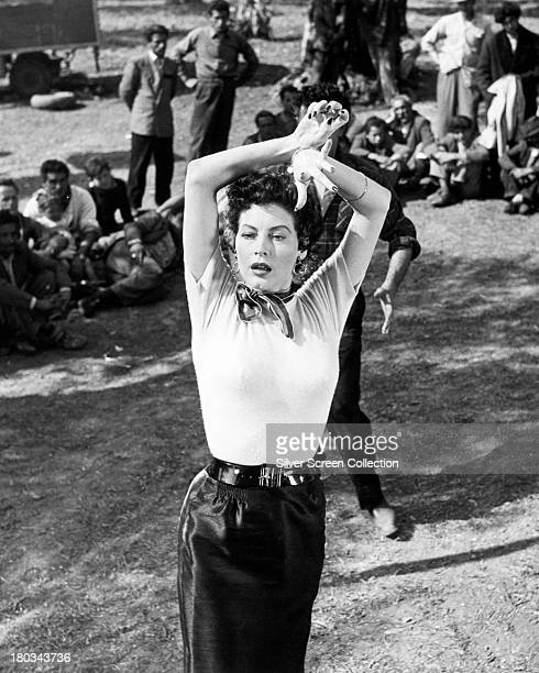 American actress Ava Gardner as Maria Vargas in a publicity still for 'The Barefoot Contessa' directed by Joseph L Mankiewicz Italy 1954