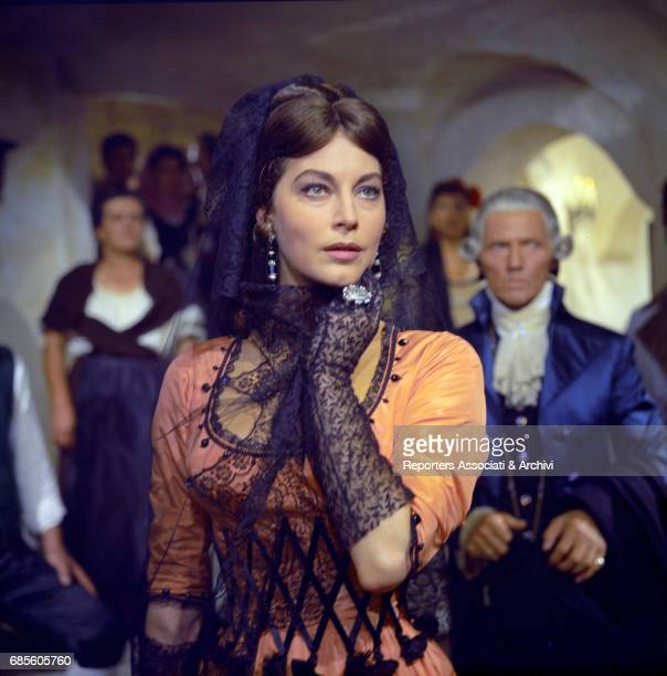 American actress Ava Gardner playing the Duchess of Alba Maria Cayetana in a scene from the film 'The Naked Maja' directed by Henry Coster and Mario...