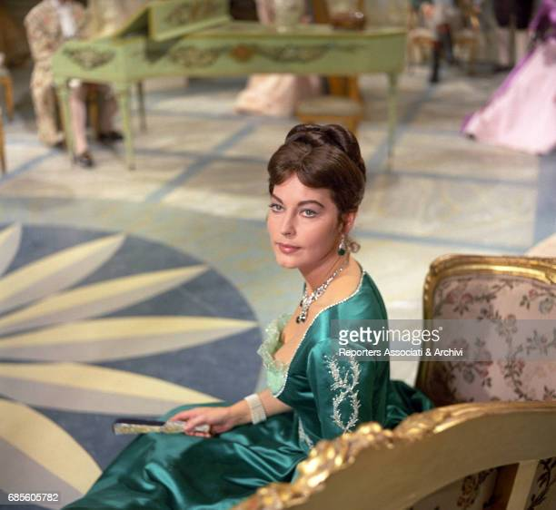 American actress Ava Gardner playing the Duchess of Alba Maria Cayetana in the film 'The Naked Maja' directed by Henry Coster and Mario Russo Italy