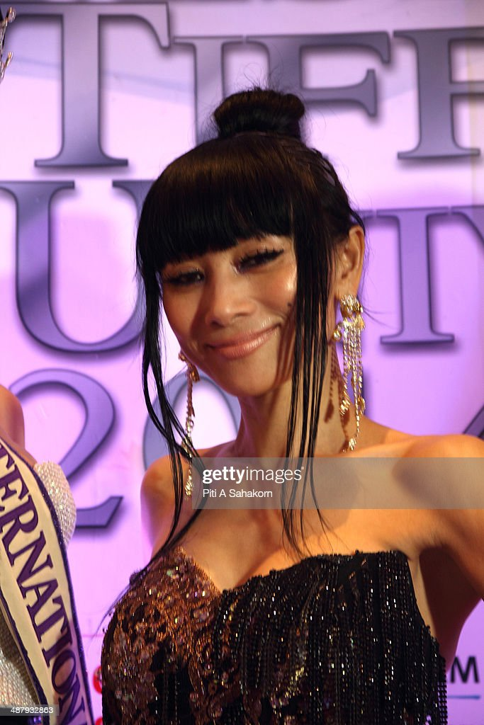 American actress Bai Ling posing during the Miss Tiffany Universe contest 2014 In Pattaya. This year marked the 40th anniversary of the Tiffany's show in Pattaya and this was the 16th Miss Tiffany Universe contest with all of the transsexual or transvestite contestants, aiming to promote human rights for the trans-gender population in Thailand.
