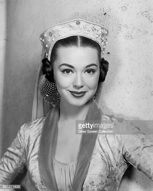 American actress Barbara Rush as Meg in a publicity still for the film 'The Black Shield of Falworth' 1954