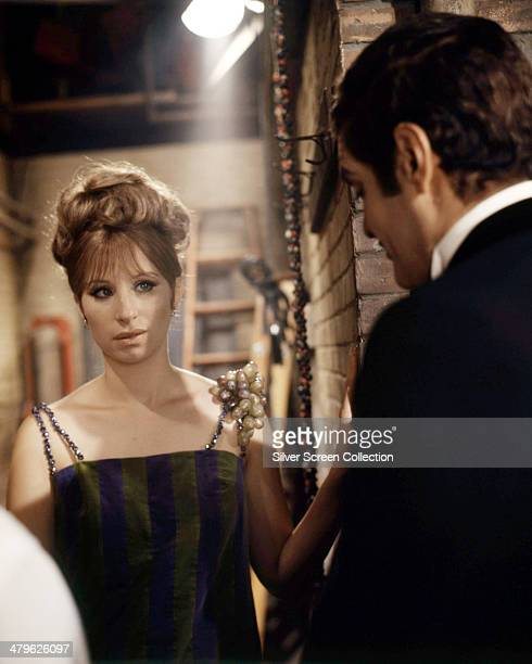 American actress Barbra Streisand as Fanny Brice and Egyptian actor Omar Sharif as Nick Arnstein in 'Funny Girl' directed by William Wyler 1968