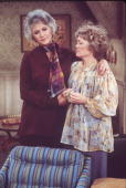 American actress Beatrice Arthur comforts a distraught Rue McClanahan in a scene from the television show 'Maude' Los Angeles California mid 1970s