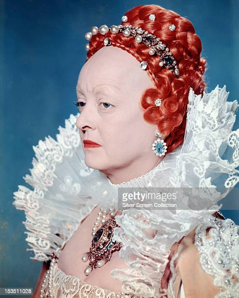 American actress Bette Davis as Queen Elizabeth I in 'The Virgin Queen' directed by Henry Koster 1955