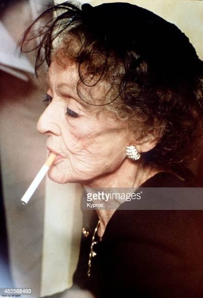 American actress Bette Davis circa 1988