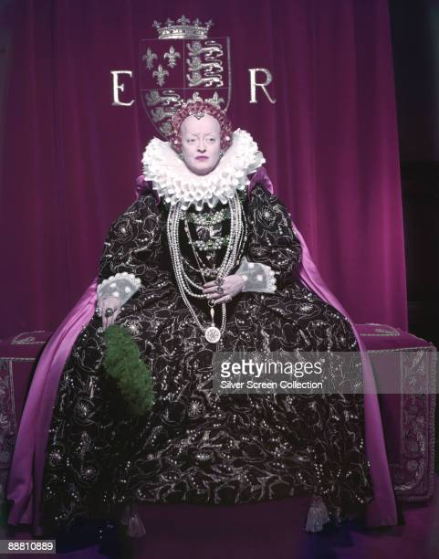 American actress Bette Davis stars as Queen Elizabeth I of England in 'The Virgin Queen' 1955