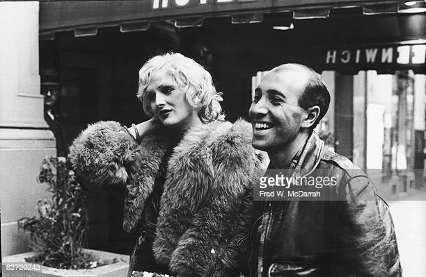 American actress Candy Darling and playright writer and director Tom Eyen attend the OffBroadway Theater Awards New York New York May 8 1972 Darling...