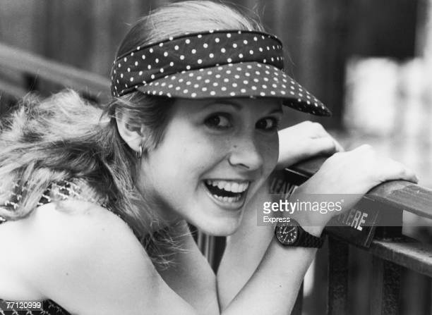 American actress Carrie Fisher 1980