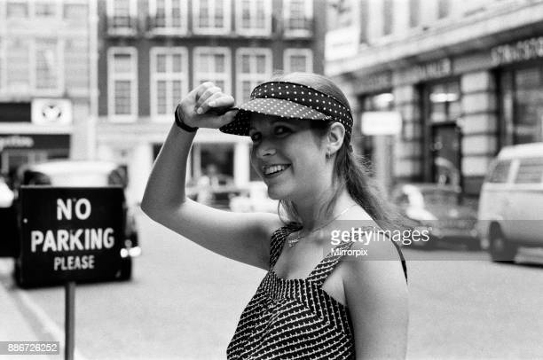 American actress Carrie Fisher who is the star of the film 'Star Wars' in which she plays Princess Leia arrived in London today to promote the film...