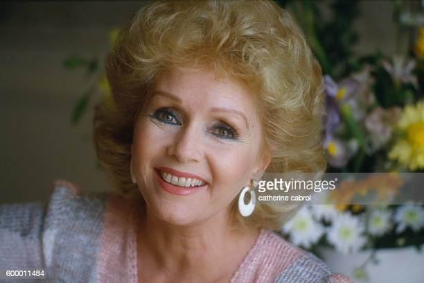 American actress Debbie Reynolds at the 1985 Deauville American Film Festival.