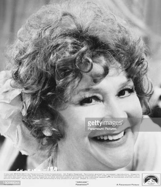 American actress Dody Goodman as the school secretary Blanche in the Paramount musical 'Grease' 1978