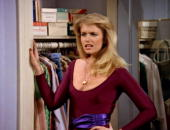 American actress Donna Dixon in a scene from the pilot episode of the television comedy series 'Bosom Buddies' Los Angeles California November 27 1980