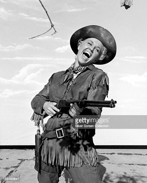 American actress Doris Day in the title role of 'Calamity Jane' directed by David Butler 1953