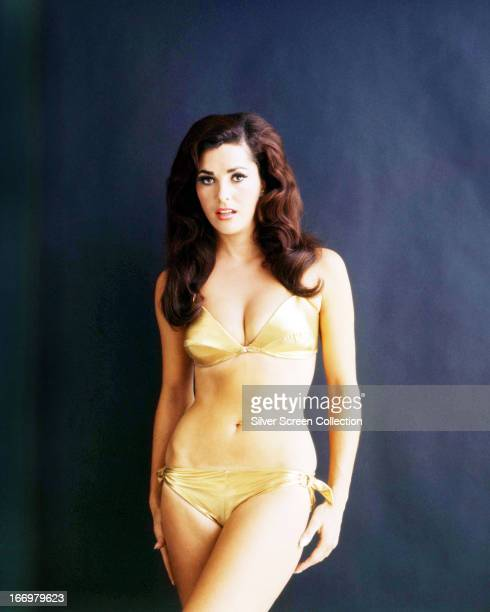 American actress Edy Williams posing in a bikini circa 1965