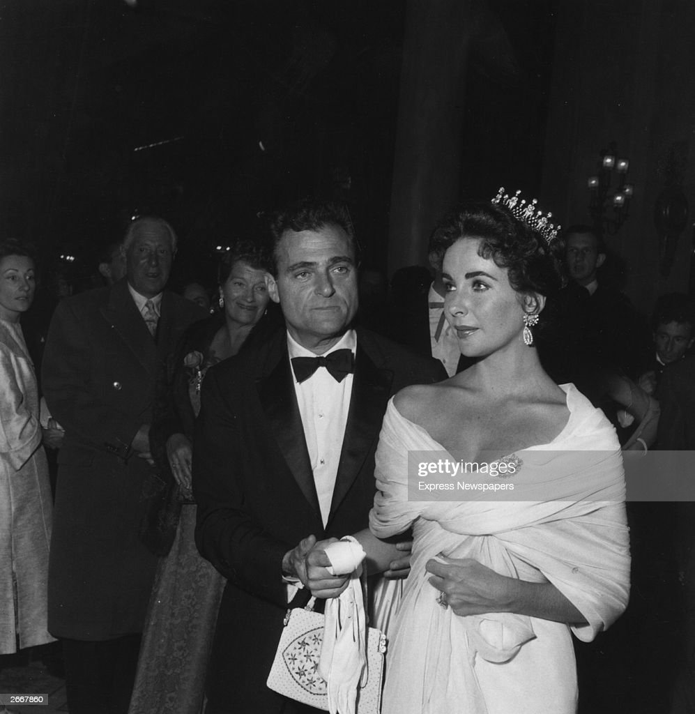 American actress Elizabeth Taylor with her husband producer Mike Todd at the Cannes Film Festival