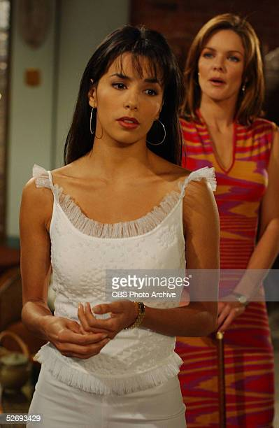 American actress Eva Longoria and Susan Walters in a scene from Episode of 'The Young and the Restless' Los Angeles CA July 8 2002