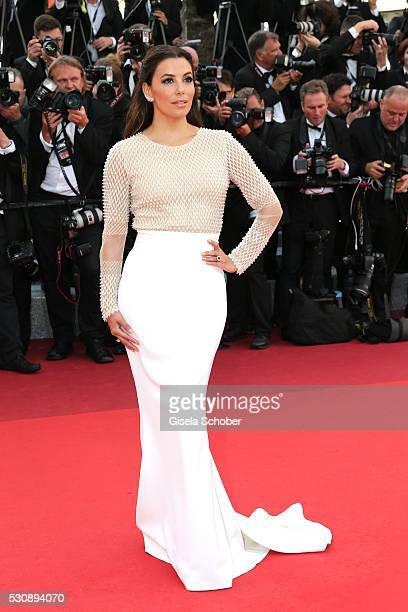 American actress Eva Longoria attends the 'Cafe Society' premiere and the Opening Night Gala during the 69th annual Cannes Film Festival at the...