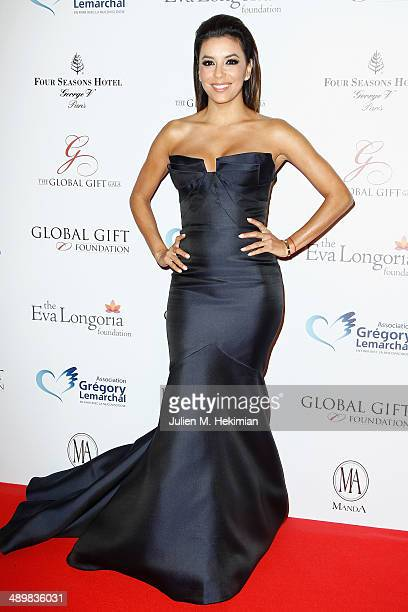 American actress Eva Longoria attends the 'Global Gift Gala' 2014 Charity Dinner At The Four Seasons Hotel George V on May 12 2014 in Paris France
