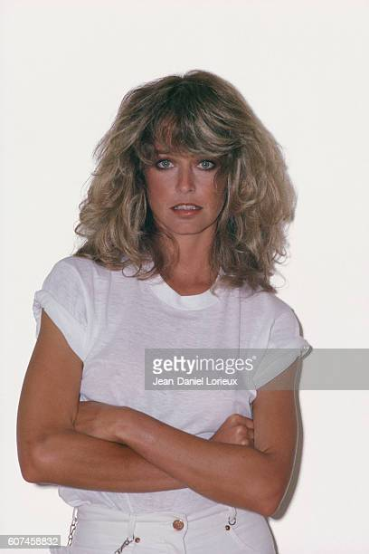 American actress Farrah Fawcett attends the 31st Cannes Film Festival