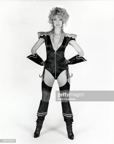 American actress Farrah Fawcett in a publicity still for the scifi film 'Saturn 3' 1980 This outfit was never actually worn in the movie