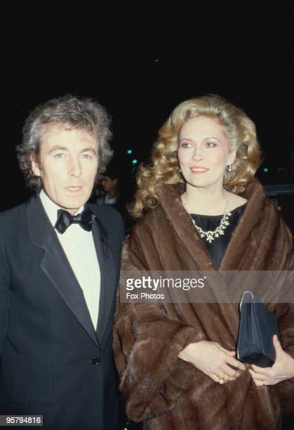 American actress Faye Dunaway and her husband photographer Terry O'Neill attend the premiere of 'The Wicked Lady' in Leicester Square London 21st...