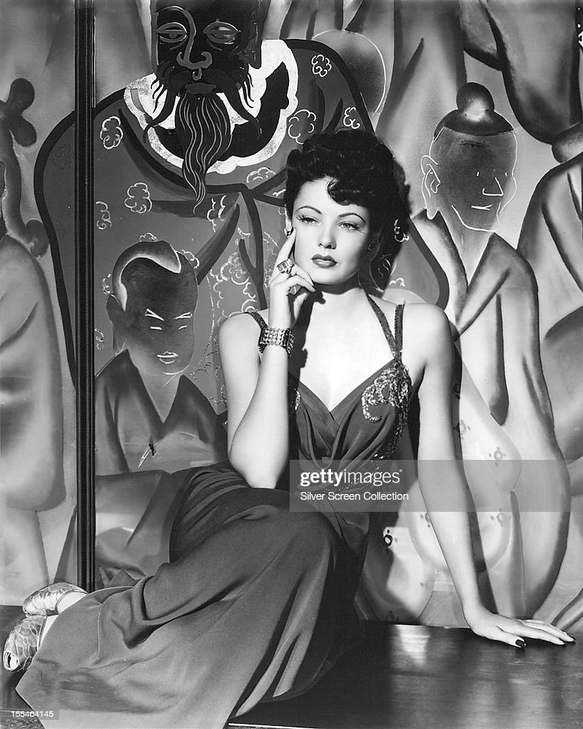 American actress <a gi-track='captionPersonalityLinkClicked' href=/galleries/search?phrase=Gene+Tierney&family=editorial&specificpeople=213598 ng-click='$event.stopPropagation()'>Gene Tierney</a> (1920 - 1991) as she appears in 'The Shanghai Gesture', directed by Josef von Sternberg, 1941.