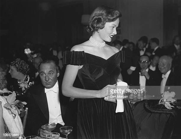 American actress Gene Tierney at the Metropolitan Opera in New York City 11th November 1947