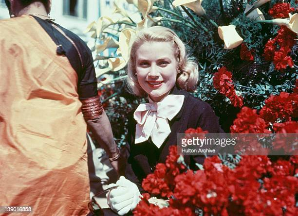 American actress Grace Kelly at the Cannes Film Festival in France before her marriage to Prince Rainier III of Monaco circa 1955