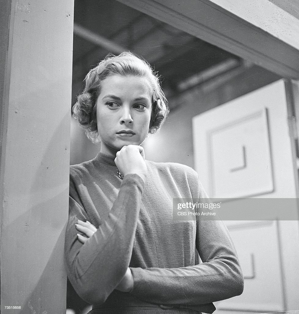 American actress Grace Kelly later Princess Grace of Monaco appears in the episode 'Rockingham Tea Set' of the CBS anthology series 'Studio One' USA...