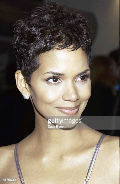 American actress Halle Berry arrives at the Orange British Academy Film Awards held at the Odeon Cinema Leicester Square on February 23 2003 in London