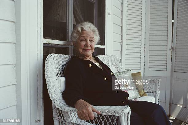 American actress Helen Hayes at home in Nyack New York State 27th April 1990