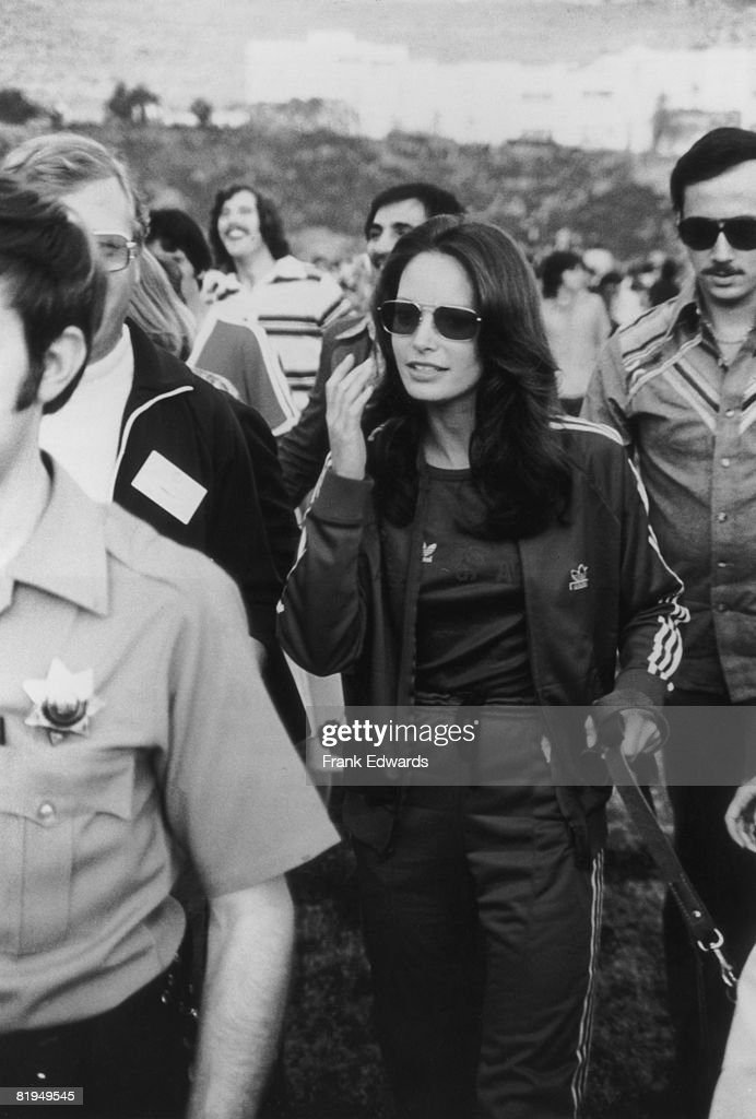 American actress Jaclyn Smith at a celebrity sports event held at Pepperdine University, Malibu, California, circa 1975.