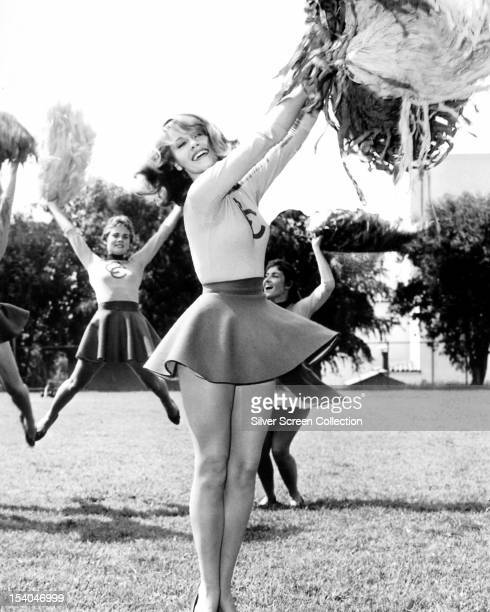 American actress Jane Fonda as student cheerleader June Ryder in her screen debut in 'Tall Story' directed by Joshua Logan 1960