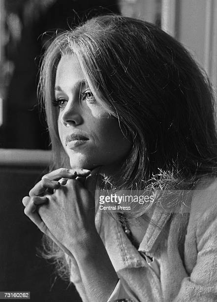 American actress Jane Fonda at the Savoy Hotel in London 23rd January 1965