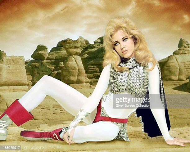 American actress Jane Fonda in a promotional portrait for 'Barbarella' directed by Roger Vadim 1968 Fonda plays the title role in the film