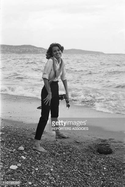 American actress Jane Fonda on French Riviera on September 09 1963