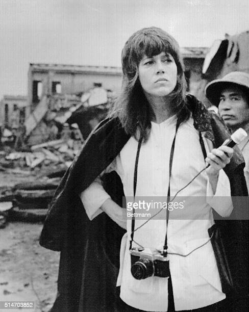 American actress Jane Fonda pays visit to the Truong Dinh residential center in the Nai Ba Trung District in Hanoi