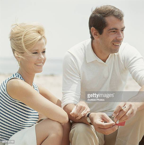 American actress Jane Fonda with her husband French director Roger Vadim California December 1965