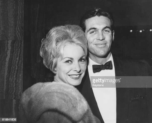 American actress Janet Leigh with her husband Robert Brandt at the world premiere of the film 'It's a Mad Mad Mad Mad World' at the Pacific Cinerama...