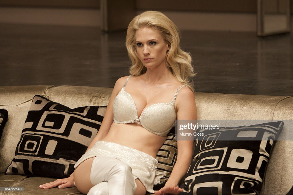 American actress January Jones as Emma Frost in a scene from the film 'X-Men: First Class', 2011.