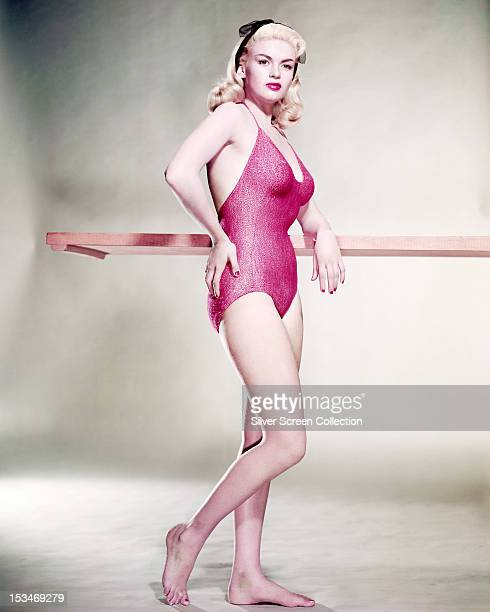 American actress Jayne Mansfield in a onepiece swimsuit circa 1955