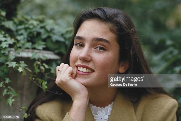American actress Jennifer Connelly during the filming of 'Labyrinth' UK 1st December 1986